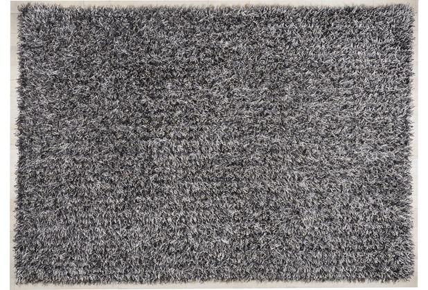 THEKO Hochflor-Teppich Girly uni light silver 190 cm x 290 cm