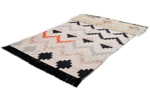 THEKO Handwebteppich Nomadic-Design multicolor dunkel 140 cm x 200 cm