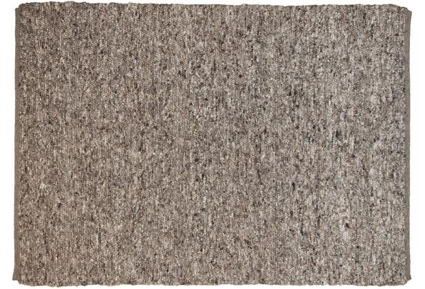THEKO Handwebteppich Berberina Super uni 505 braun multi 60 x 90 cm