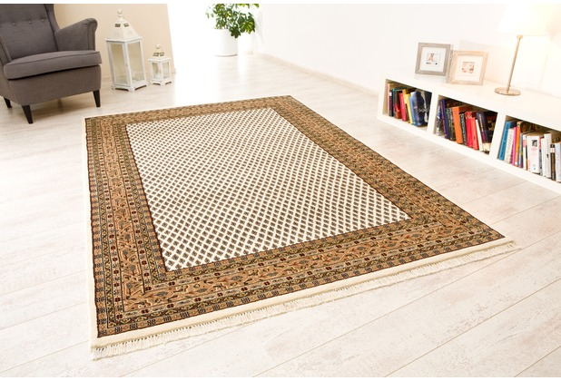 oriental collection mir teppich chandi premium collection creme braun. Black Bedroom Furniture Sets. Home Design Ideas