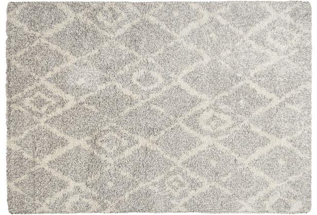 THEKO Teppich Color Shag 621 650 grau 57 x 90 cm