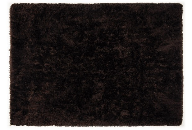 THEKO Teppich Flokato, UNI, dark brown 60cm x 90cm