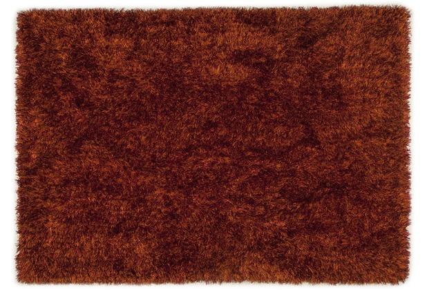 THEKO Hochflor-Teppich Girly uni terra 50 cm x 80 cm