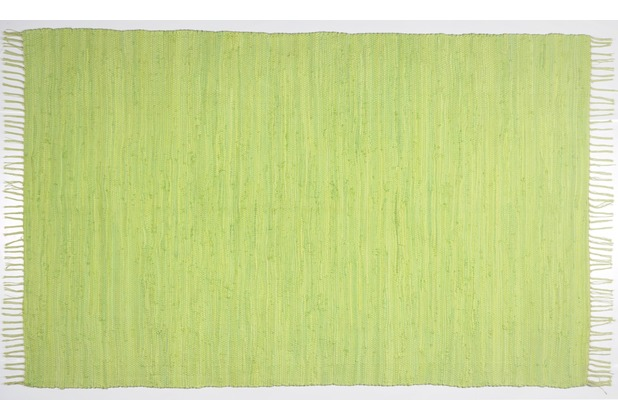 Zaba Handwebteppich Dream Cotton Grün 40 cm x 60 cm