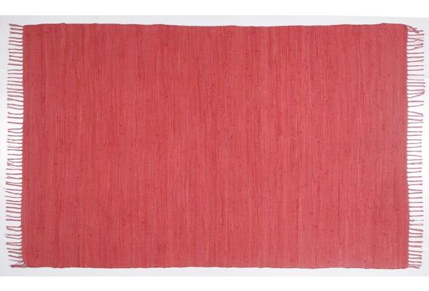 Zaba Handwebteppich Dream Cotton Rot 40 cm x 60 cm