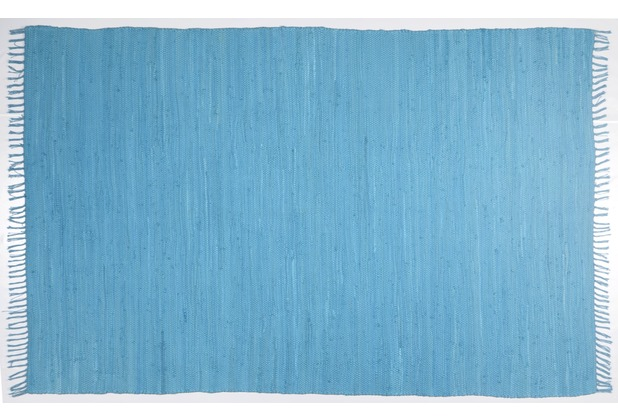 Zaba Handwebteppich Dream Cotton Türkis 40 cm x 60 cm