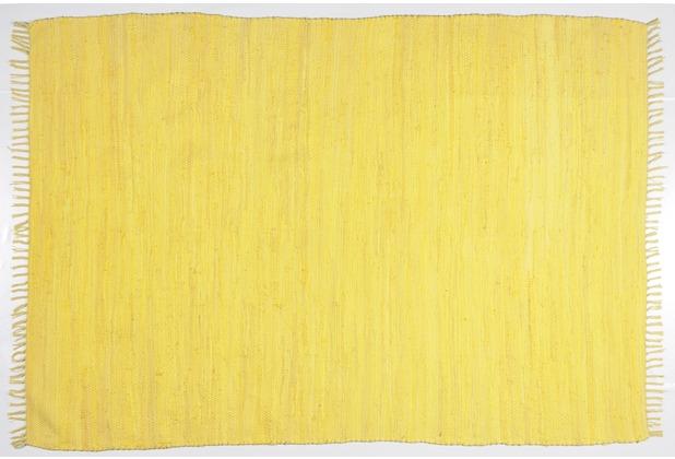 Zaba Handwebteppich Dream Cotton Gelb 40 cm x 60 cm