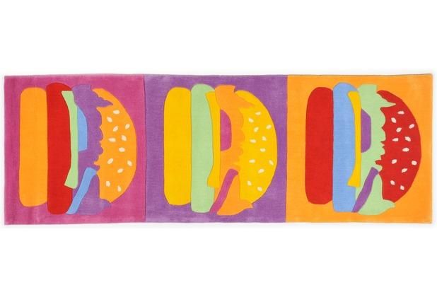 THEKO Teppich Menorca, Burger, multicolor 80cm x 230cm