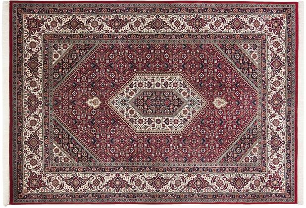 THEKO Teppich Meraj Silk touch Bidjar Cl. 562 rot / creme 70 x 140 cm