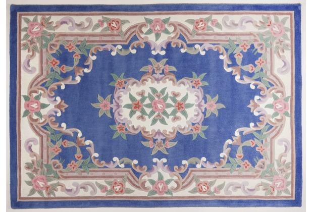 THEKO Teppich Ming, Aubusson 501, blau 60cm x 90cm