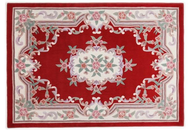 THEKO Teppich Ming, Aubusson 501, rot 60cm x 90cm