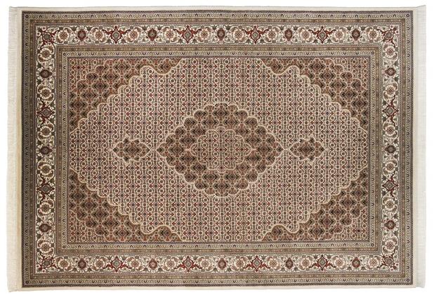 THEKO Teppich Sirsa Mahi Silk touch Tabriz Ma 573 creme 70 x 140 cm