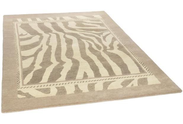THEKO Nepalteppich Talonga RSK578 beige 162 x 232 cm