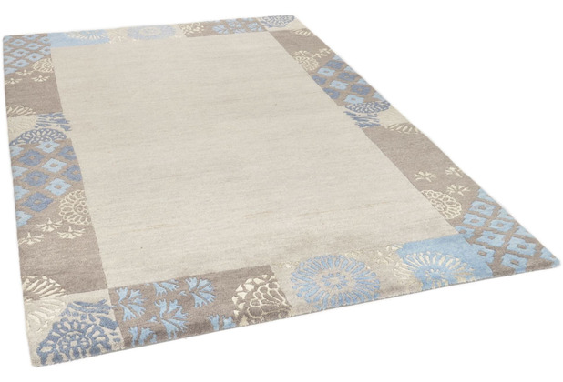 THEKO Nepalteppich Talonga Silk RSK495 grey multi 164 x 234 cm