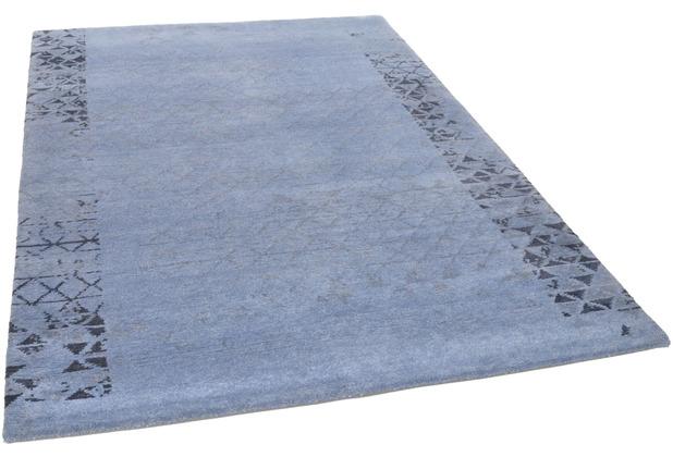 THEKO Nepalteppich Talonga Silk RSK564 blue 165 x 235 cm