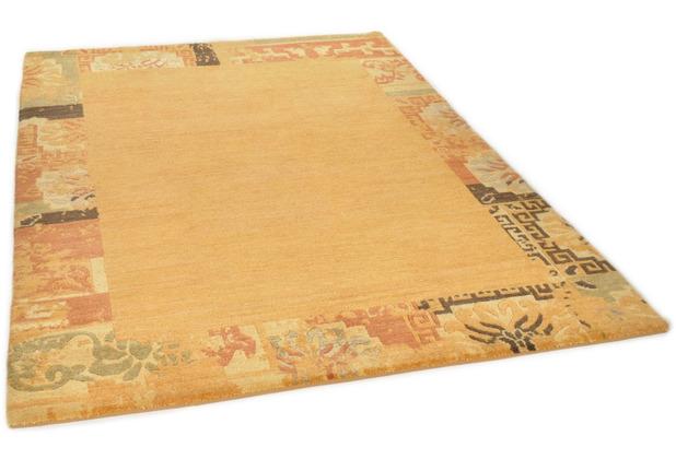 THEKO Nepalteppich Talonga Silk RSK629 terra multi 164 x 233 cm