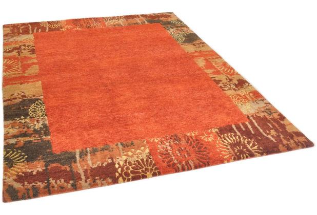 THEKO Nepalteppich Talonga Silk RSK631 rust 164 x 231 cm