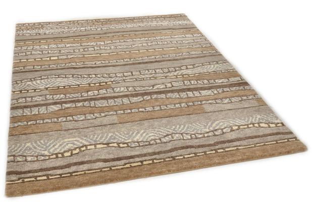 THEKO Nepalteppich Talonga Silk RSK686 brown multi 164 x 239 cm