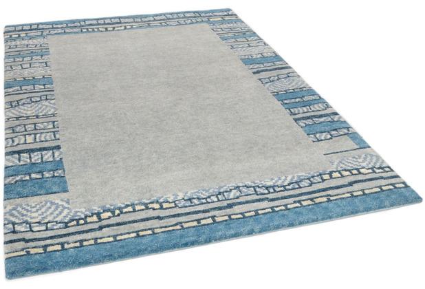 THEKO Nepalteppich Talonga Silk RSK687 grey multi 166 x 240 cm