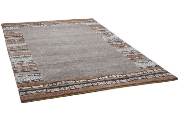 THEKO Nepalteppich Talonga Silk RSK687 grey multi 166 x 241 cm