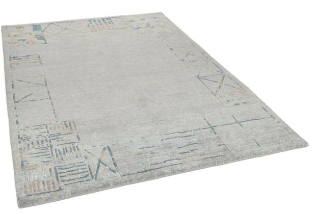 THEKO Nepalteppich Talonga Silk RSK689 grey multi 164 x 240 cm