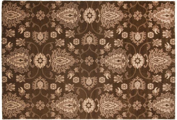 THEKO Teppich Timeless 001 500 braun 80 x 150 cm