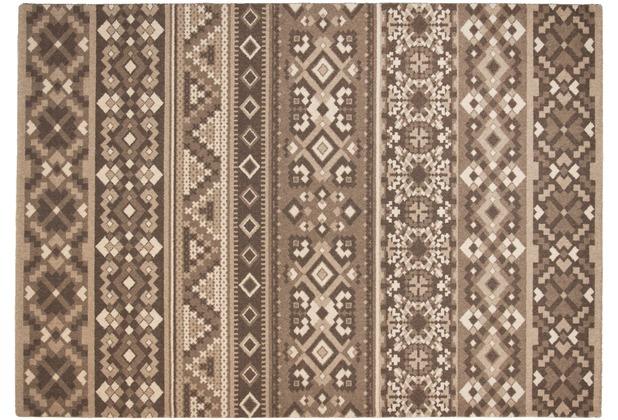 THEKO Teppich Timeless 002 550 beige 80 x 150 cm