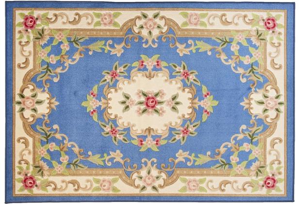 THEKO Teppich Versailles 501 700 blau 50 x 80 cm