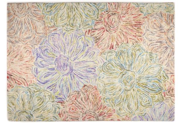THEKO Teppich WOOL-Design, RO-12-2032, grün 140cm x 200cm