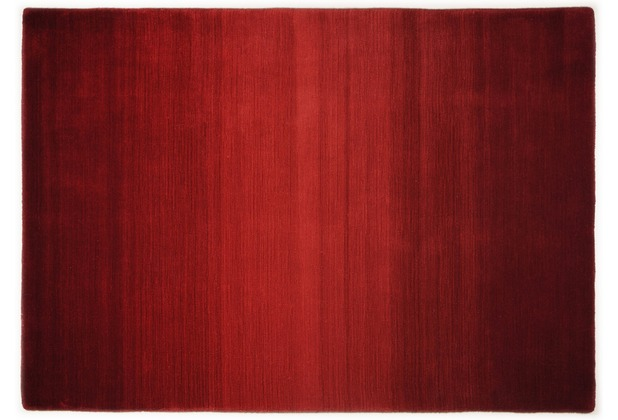 THEKO Teppich Wool Comfort, Ombre, rot 60cm x 90cm