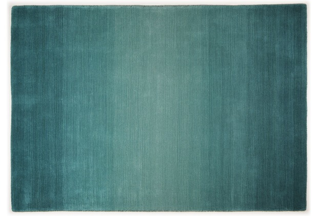 THEKO Teppich Wool Comfort, Ombre, turquoise 60cm x 90cm