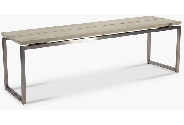 TINGO LIVING TIMBER Gartenbank, 180x40/45 cm, Teak vintage-grau