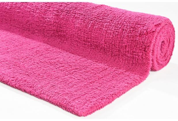 Tom Tailor Badteppich Cotton Double UNI 240 pink 60 cm x 60 cm