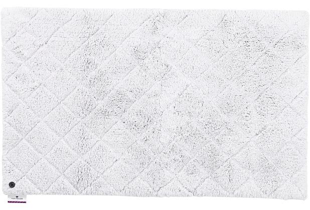 Tom Tailor Badteppich Cotton Pattern diamond 641 silber 60 cm x 60 cm