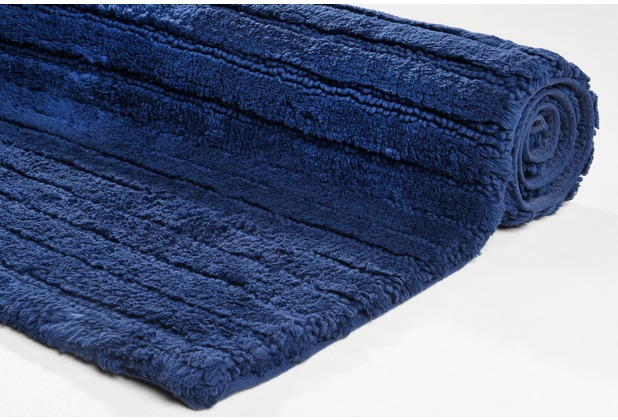 Tom Tailor Badteppich Cotton Stripe Stripes 330 navy 60 cm x 60 cm