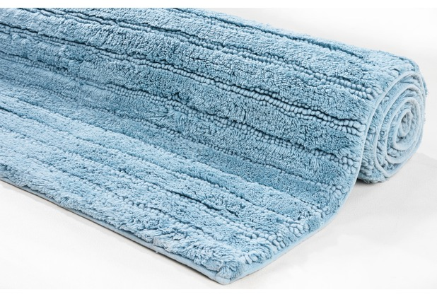 Tom Tailor Badteppich Cotton Stripe Stripes 700 blau 60 cm x 60 cm