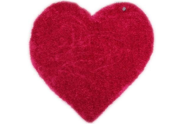Tom Tailor Kinderteppich Soft Herz pink 100cm