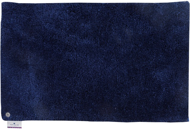 Tom Tailor Badteppich Soft Bath uni 330 navy 60 cm x 60 cm