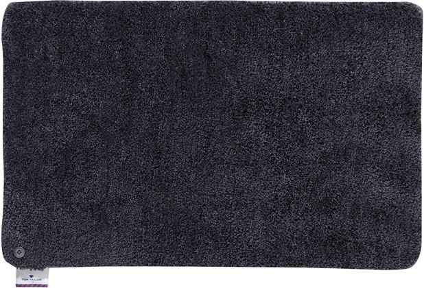 Tom Tailor Badteppich Soft Bath uni 601 anthrazit 60 cm x 60 cm
