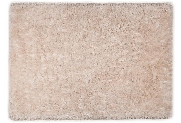 Tom Tailor Teppich Flocatic Uni beige 60cm x 90cm