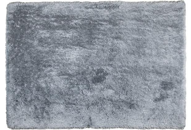 Tom Tailor Teppich Flocatic UNI grau 160cm x 230cm