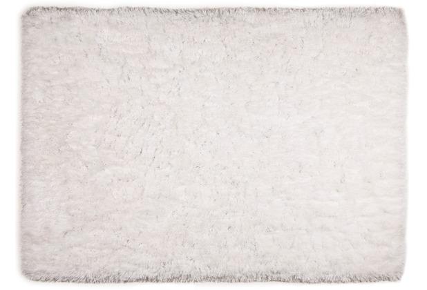 Tom Tailor Teppich Flocatic UNI weiß 160cm x 230cm