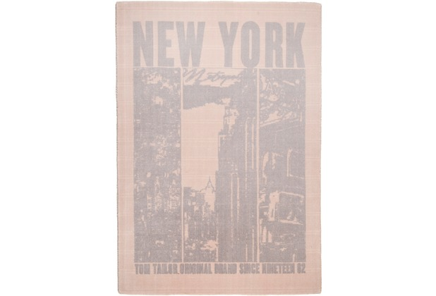 Tom Tailor Teppich Happy New York beige 65cm x 135cm