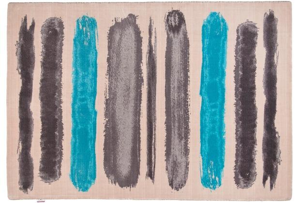 Tom Tailor Teppich Happy Painted Stripe türkis multi 65cm x 135cm