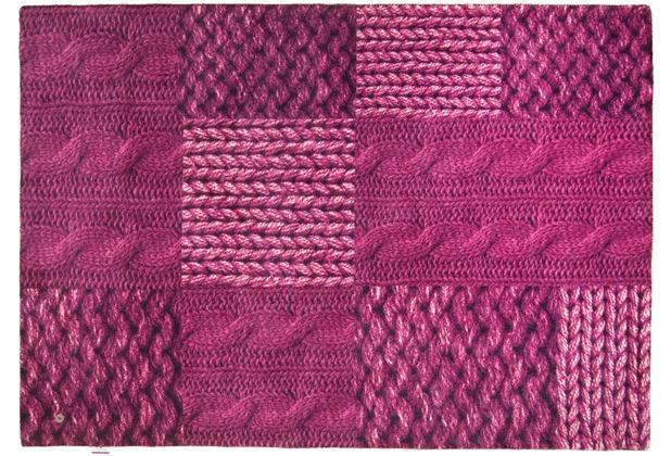 Tom Tailor Teppich Happy Patchwork Knit pink 65cm x 135cm