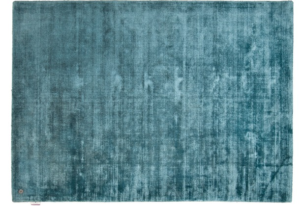 Tom Tailor Viskose-Teppich Shine uni blau 140cm x 200cm