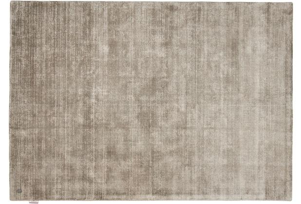 Tom Tailor Viskose-Teppich Shine uni grau Wunschmaß