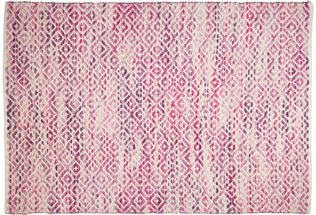 Tom Tailor Handwebteppich Smooth Comfort, diamond, pink 140cm x 200cm