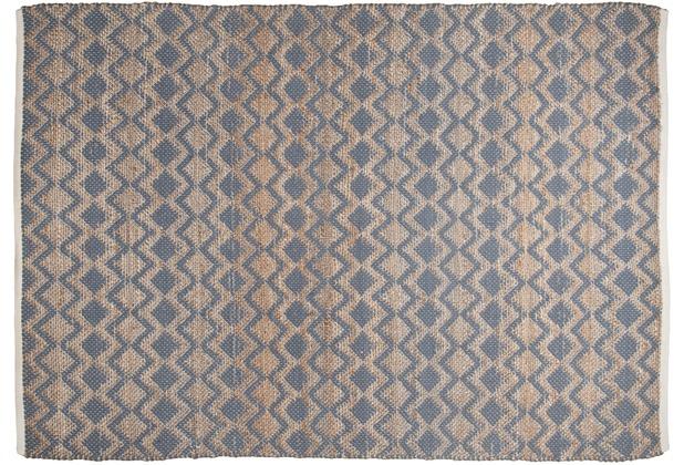 Tom Tailor Handwebteppich Smooth Comfort Geometric grau 140 cm x 200 cm