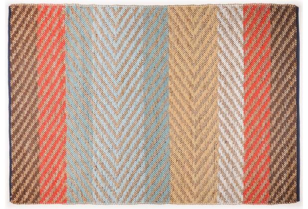 Tom Tailor Handwebteppich Smooth Comfort Pastel Stripe multi 65 cm x 135 cm